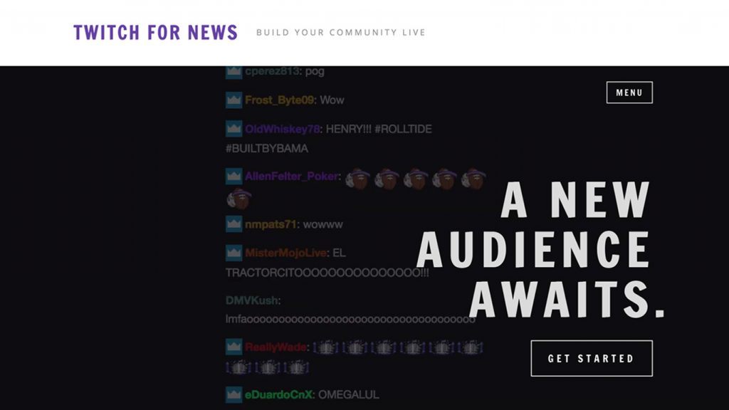 twitch for news